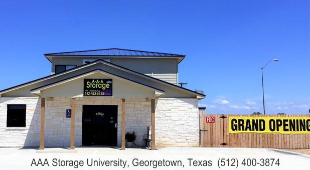 AAA Storage University Georgetown TX main office