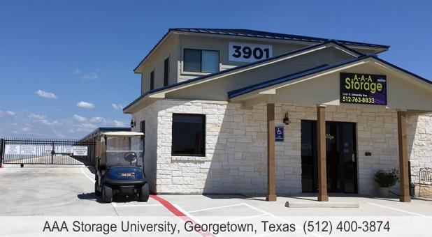 AAA Storage University Georgetown TX security gate keypad