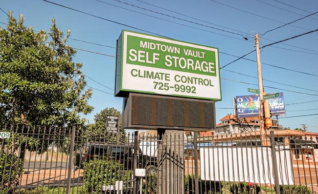 street view of midtown storage locaton