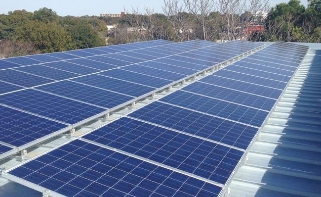 solar panels at Midtown storage unit