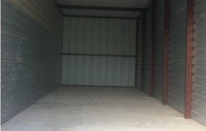Inside storage unit