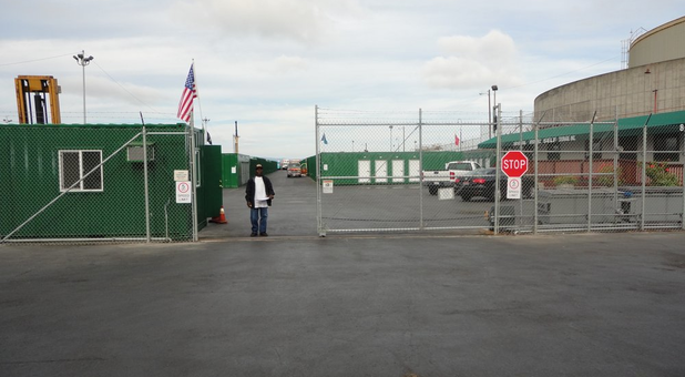 Secure Gate Access to the Facility