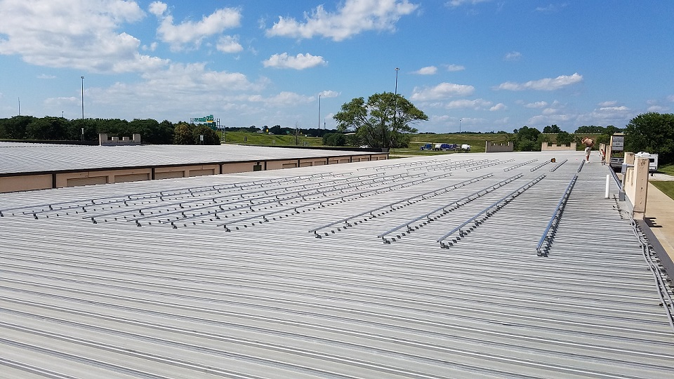 Railing Installed for All Stor Fort Knox Storage Solar Array