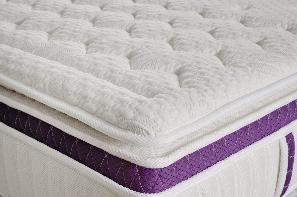 Background of soft white mattress