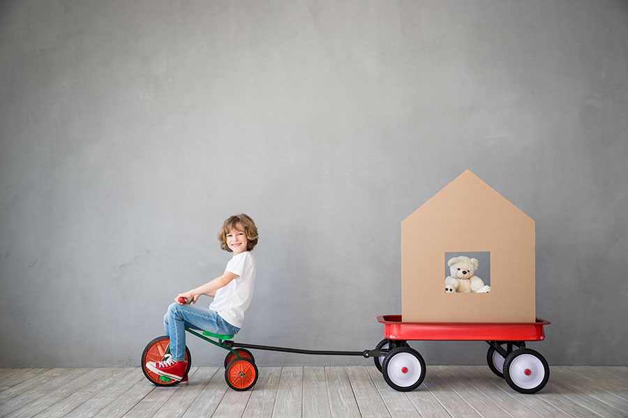 Child Moving Box House