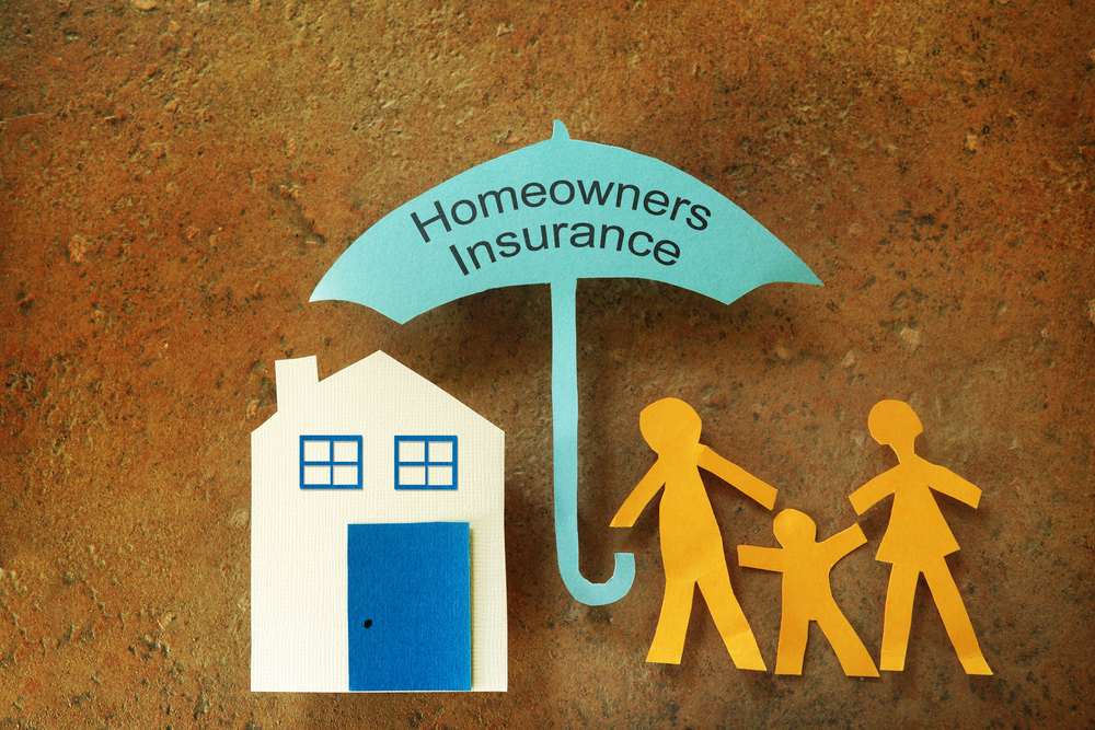 Home owner's insurance paper cutouts