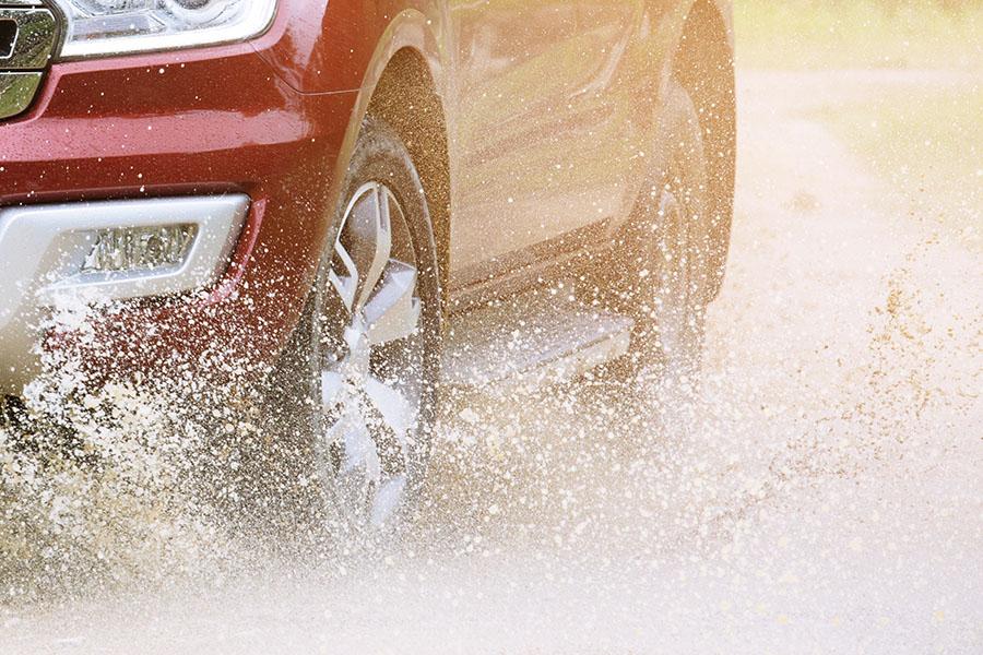 Truck Tire Rain Weather