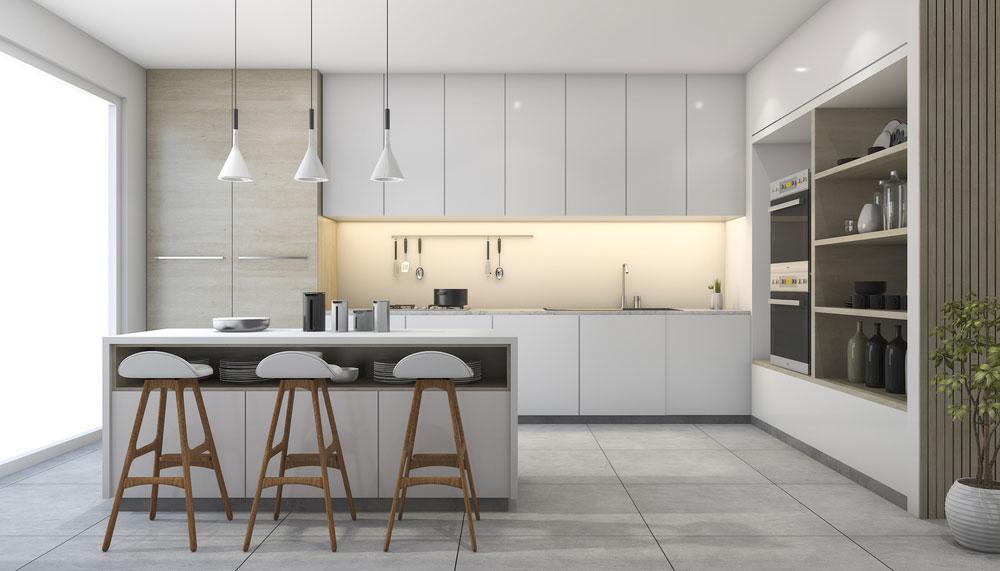 Picture of modern, sleek kitchen
