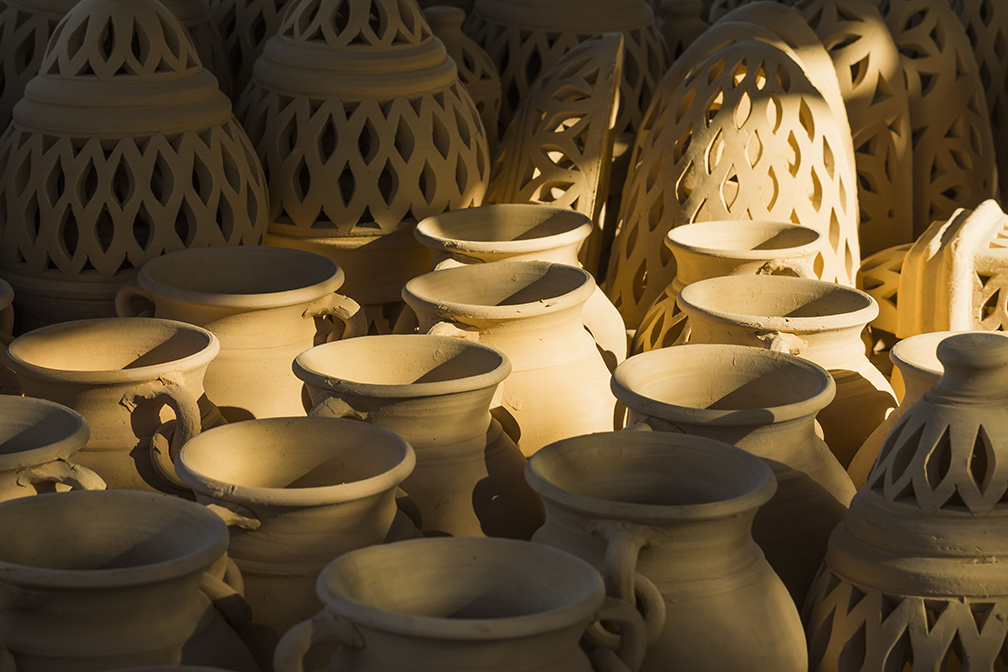 Pottery sitting in the sun