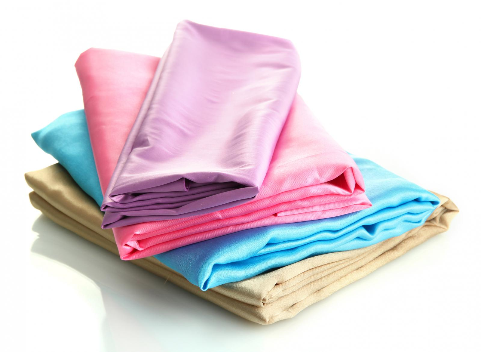 Silk fabric folded and ready for climate controlled storage