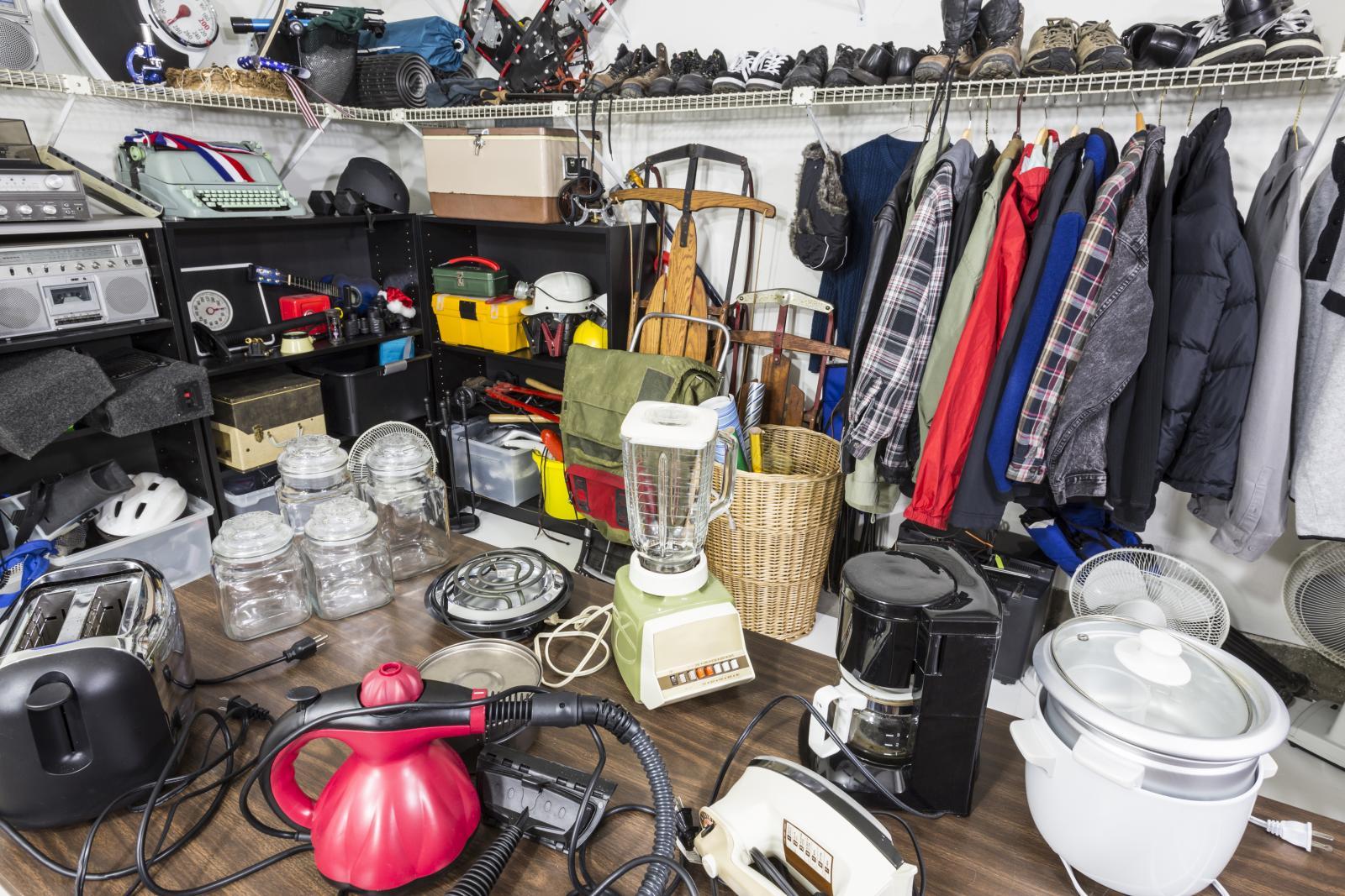 Garage sale in a storage unit