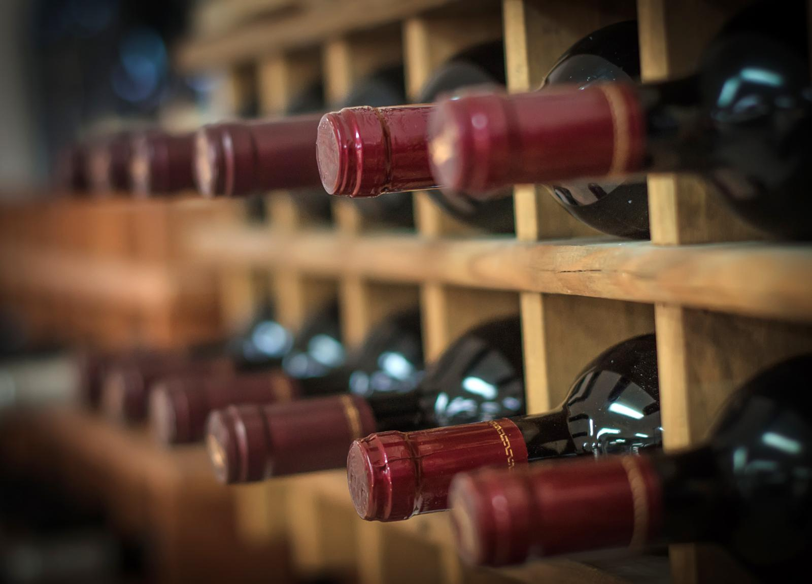 Wine collection in climate controlled storage