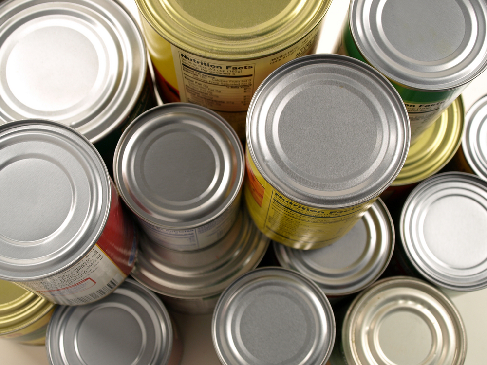 Canned food in self storage unit