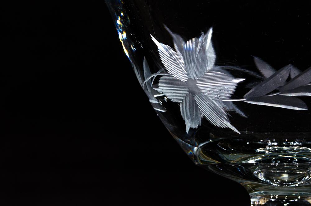 Glass bowl close-up