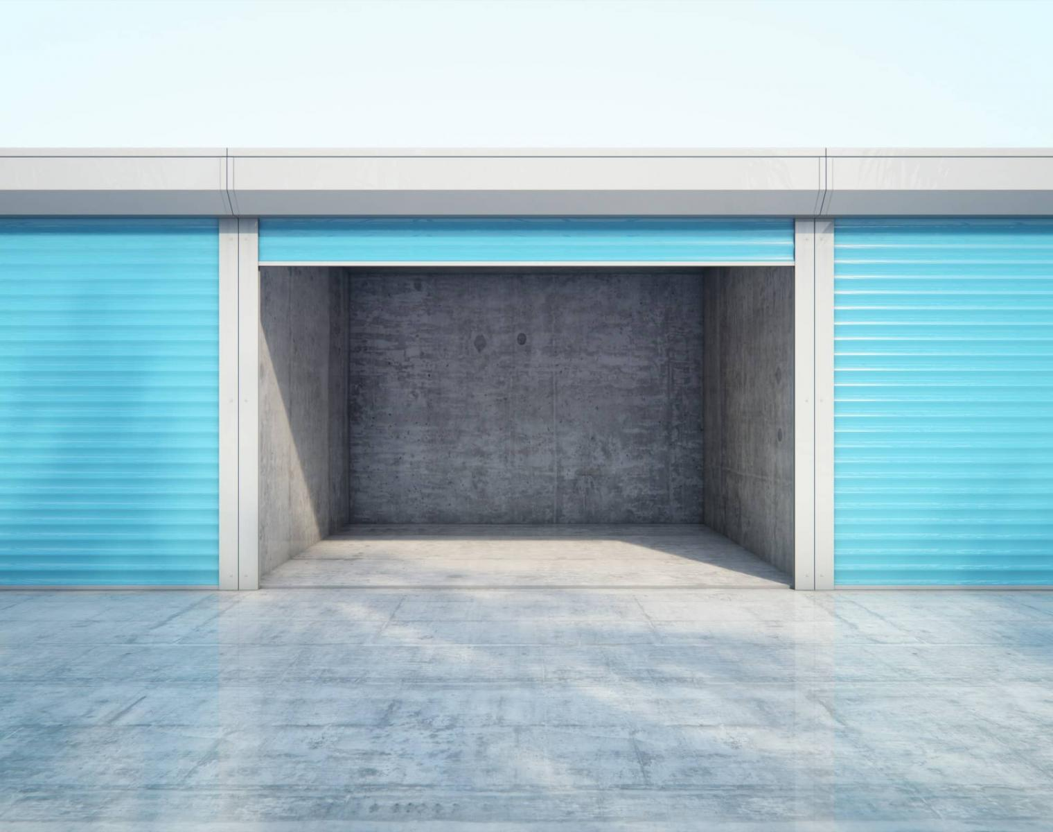 empty storage space cleared for pest control