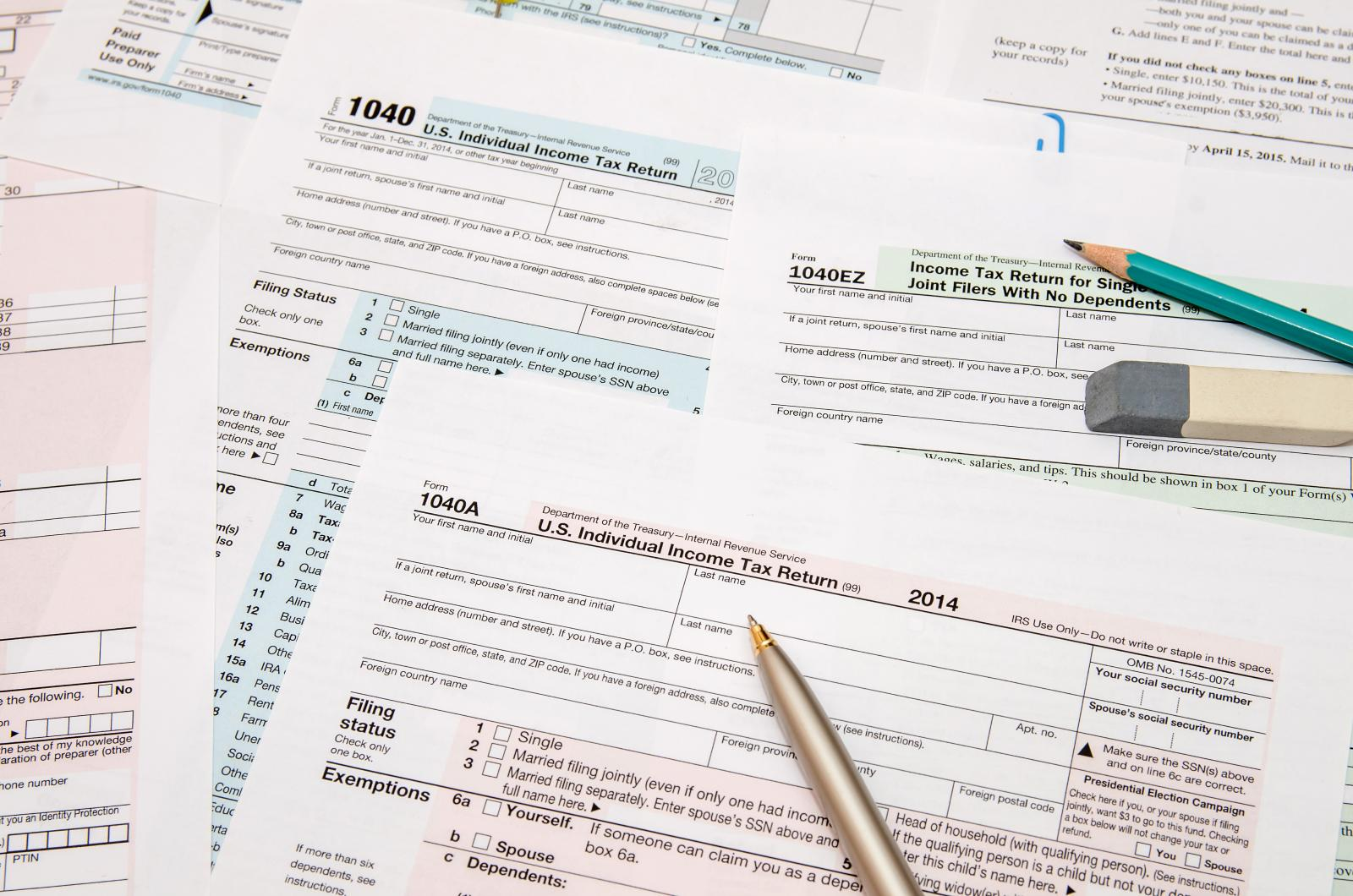 Image of tax documents that need to be prepared for self-storage
