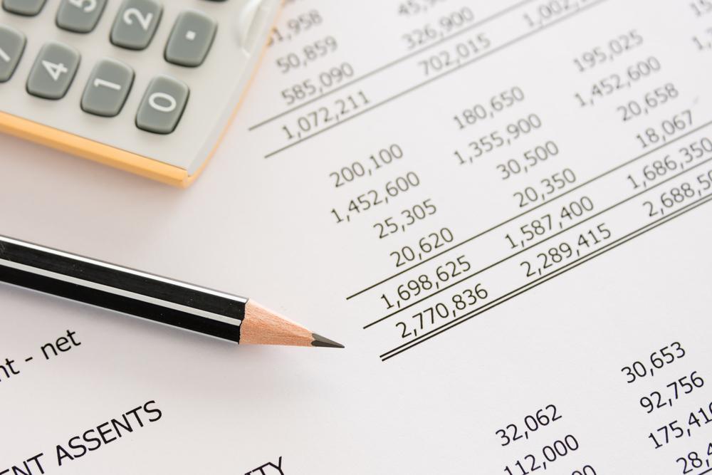 Storage rental - bank account statement.