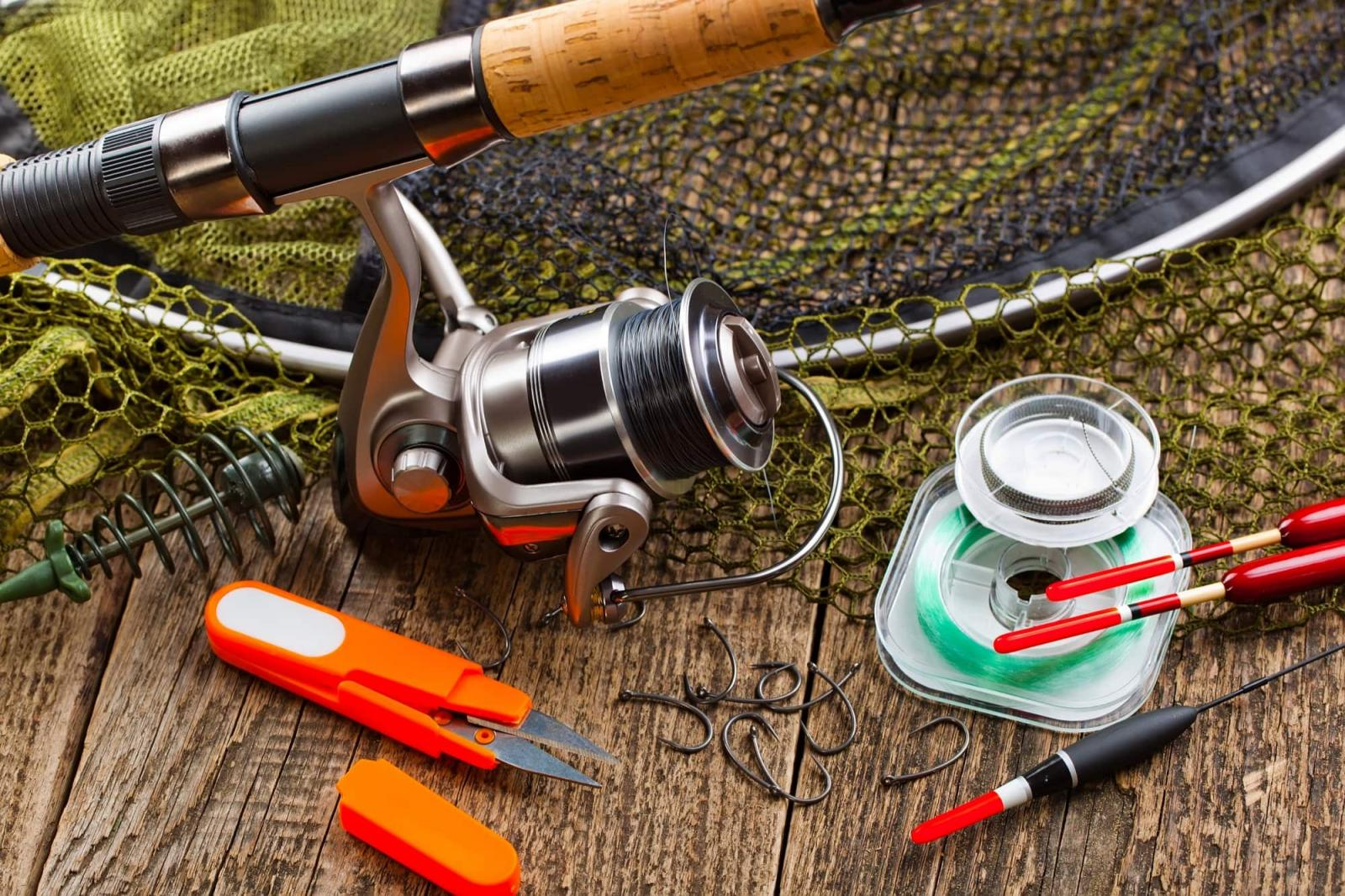 fishing gear that will need to be properly stored in storage units