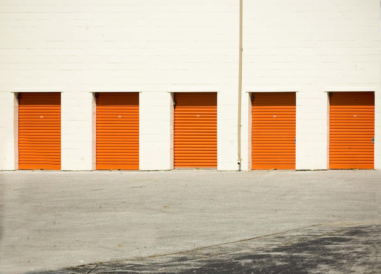 Orange storage units