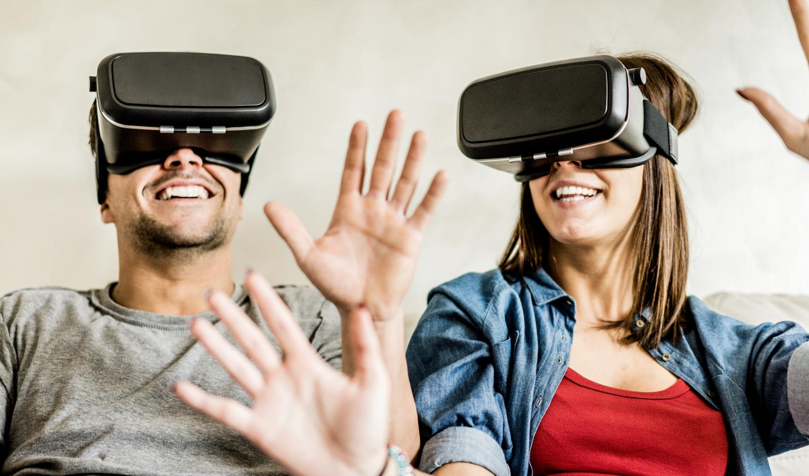 Young couple in need of self-storage tips for their virtual reality goggles