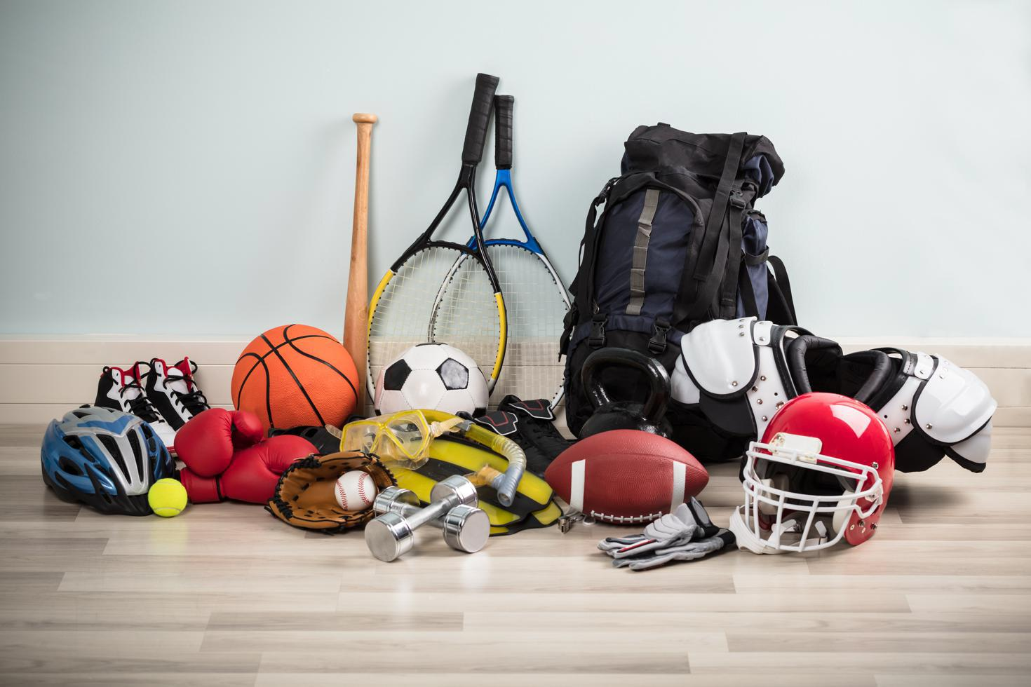 storing sports equipment in self-storage units