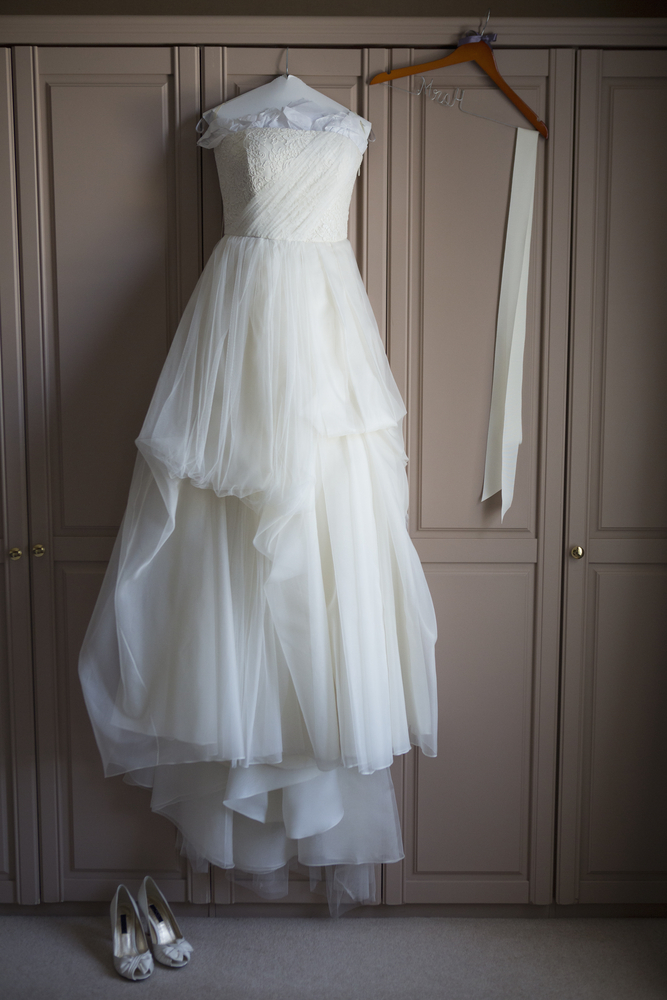 Wedding dress ready for storage unit
