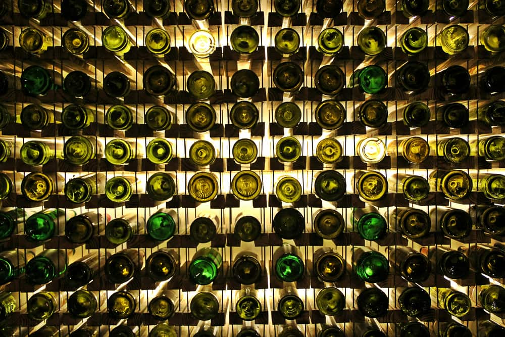 Wine bottles ready for climate-controlled storage