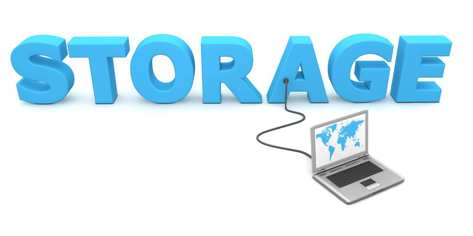 Laptop Storage Text Logo
