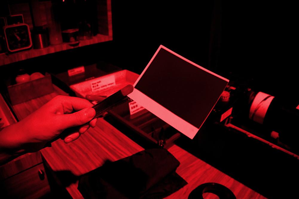 Storage unit - darkroom photo developing.
