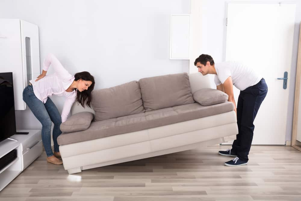 Couple injured by not safely moving couch to storage unit