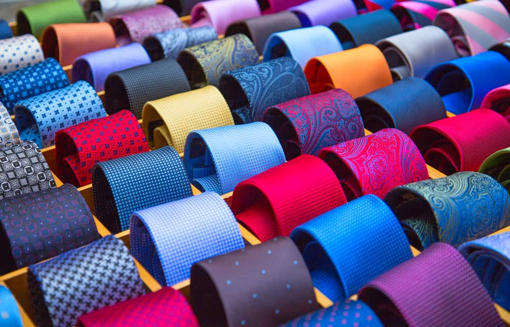 Ties that are ready to be placed in self storage
