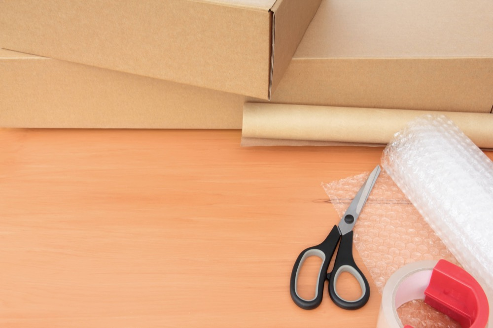 packing supplies in use before items places into self-storage