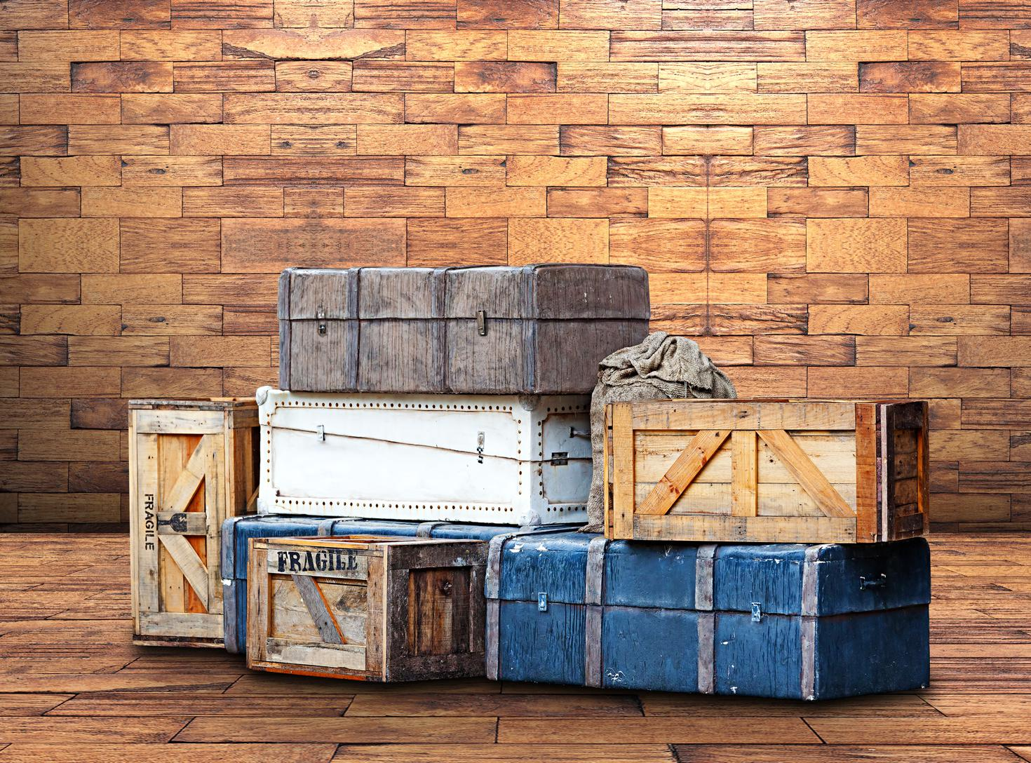 boxes with bizarre items in storage units