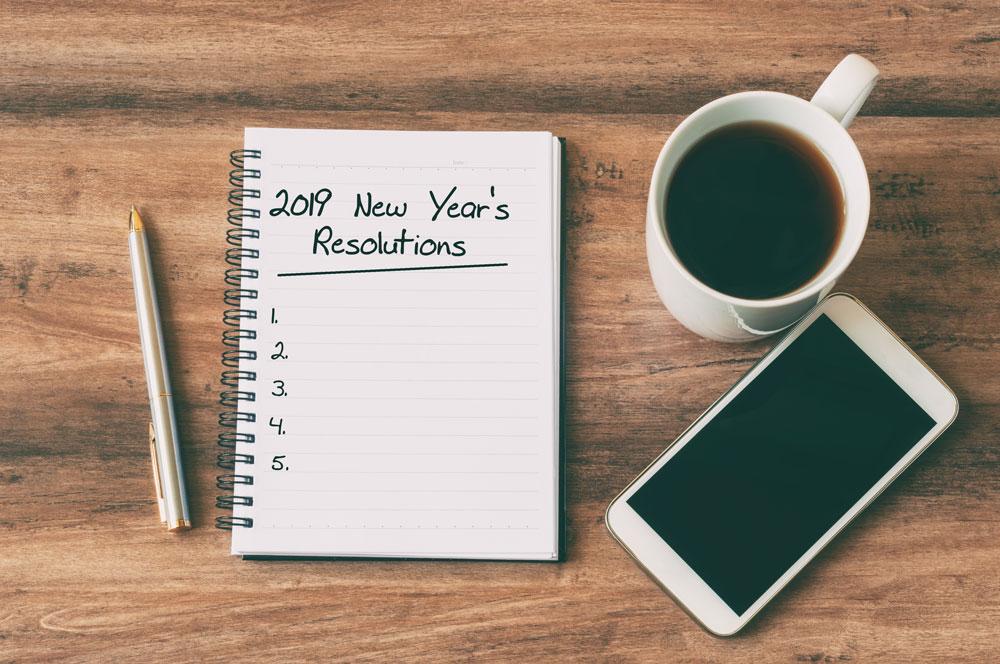 New Year's resolution list