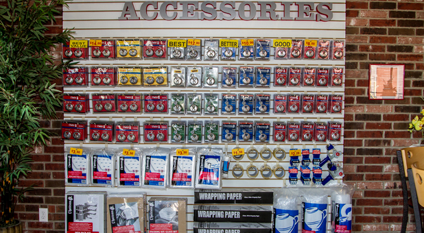 variety of storage accessories available