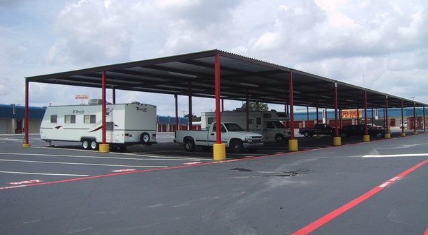 rv boat and vehicle storage in gated area