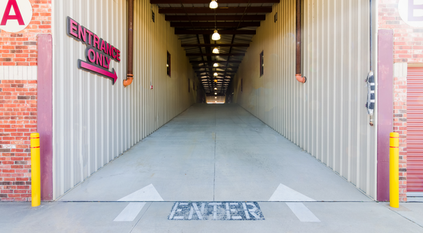 drive up interrior access for storage units