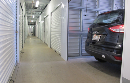 Cars can be stored in some units.