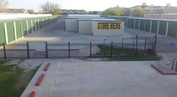 Fully fenced self storage facility
