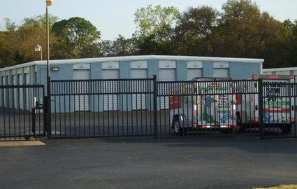 Fenced self storage facility