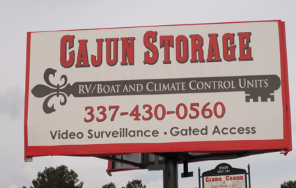 Canjun Storage sign
