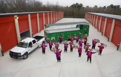 Mardi Gras at storage facility