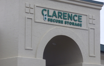 Clarence Secure Storage sign