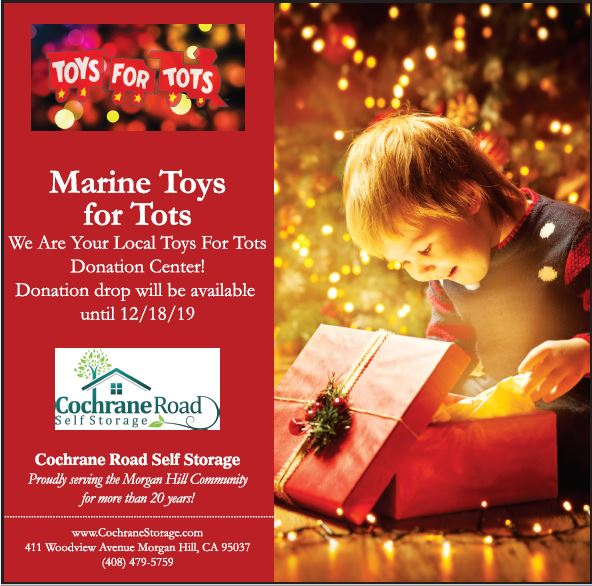 Cochrane Road Self Storage is proud to support the Marine Toys for Tots Campaign.