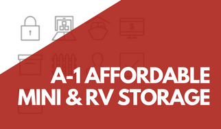 A-1 Affordable Mini & RV Storage Banner For Promotions