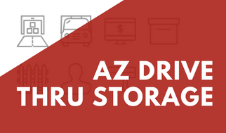 AZ Drive Thru Storage Banner For Promotions