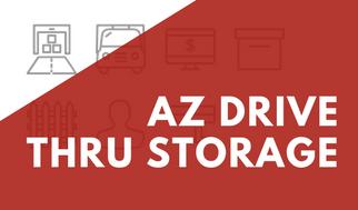 AZ Drive Thru Storage Banner For Promotions