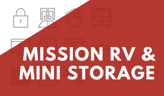 Mission RV & Mini Storage Banner For Promotions