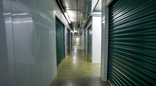 inside units at Falmouth Self Storage