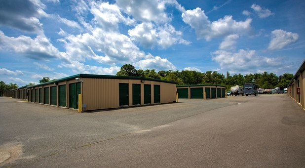 Ground level units at Falmouth Self Storage